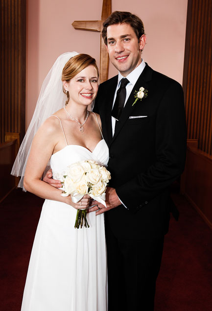 Jim And Pam Wedding.Jim And Pam Veils And Pearl Wedding Factory Direct